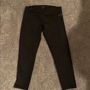 Calvin Klein fleece lined leggings in charcoal